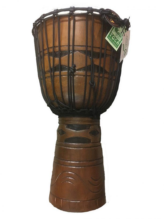 Toca 12 djembe 700x933 - Toca Origins Djembe  African Mask 8 in.