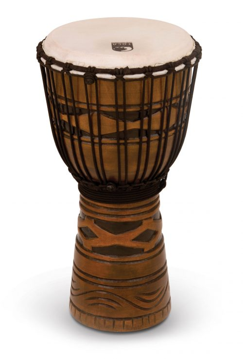 Toca 12 djembe 01 500x738 - Toca Origins Djembe  African Mask 8 in.