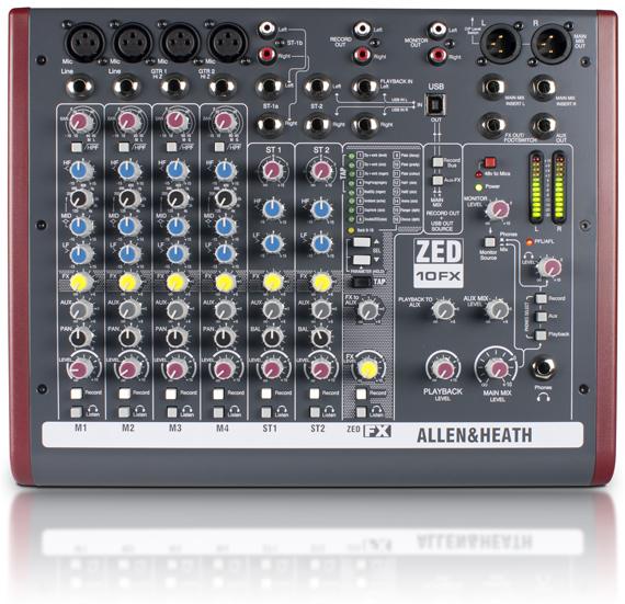 ZED10 FX Main1 - Allen & Heath ZED-10FX