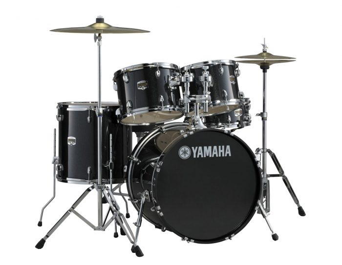 yamaha gigmaker drum kit in fusion sizes black glitter with paiste 101 cymbal pack 700x543 - Yamaha Gigmaker Fusion Drum Kit