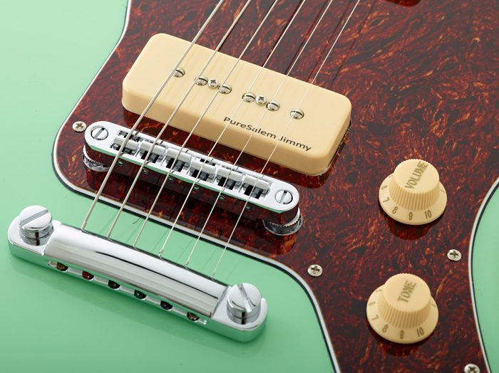 Ps ModelsClose WoodSoul 7 700x524 - PureSalem WoodSoul Electric Guitar Sea Foam Green Finish