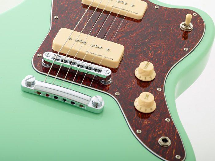 Ps ModelsClose WoodSoul 8 700x524 - PureSalem WoodSoul Electric Guitar Sea Foam Green Finish
