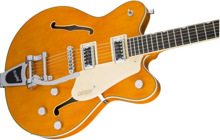 2509300520 gtr cntbdyright 001 nr 700x445 - Gretsch G5622T-CB Electromatic Center-Block Double-Cut with Bigsby. Vintage Orange.