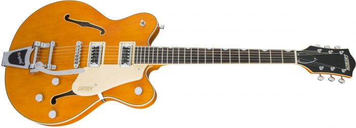 2509300520 gtr frtangleleft 001 rr 700x253 - Gretsch G5622T-CB Electromatic Center-Block Double-Cut with Bigsby. Vintage Orange.