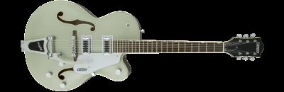 Gretsch G5420T Aspen Green gtr frt 001 rr - Gretsch G5420T Electromatic Single Cutaway Hollow Body Electric Guitar with Bigsby - Aspen Green