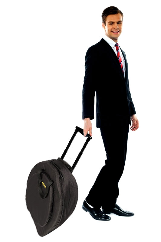 Cymbal Bag - Kahzan Deluxe Cymbal Trolley Bag (Black)