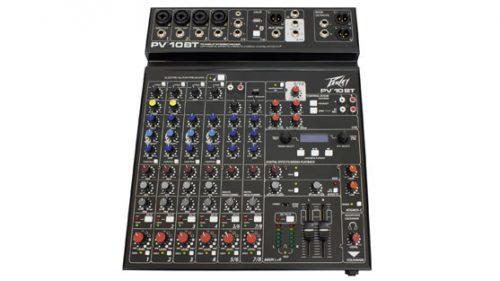 PEPV10BT 500x281 - Peavey PV10BT PV Series 10 Input Mixer w/Digital FX and Bluetooth