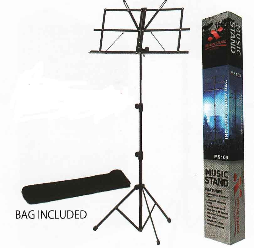 ms105 music stand - Folding Music Stand with Bag – MS105