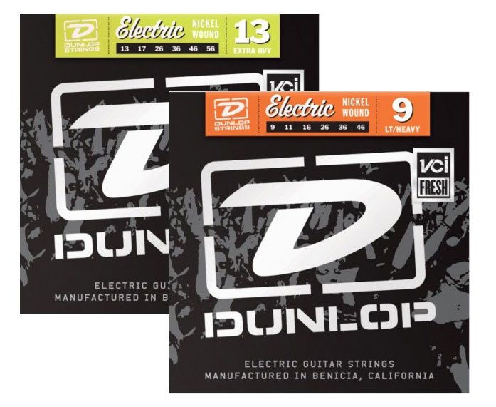 dunlop nickel - Dunlop Nickel Wound Electric Strings