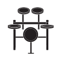 electronic drums icon - Home