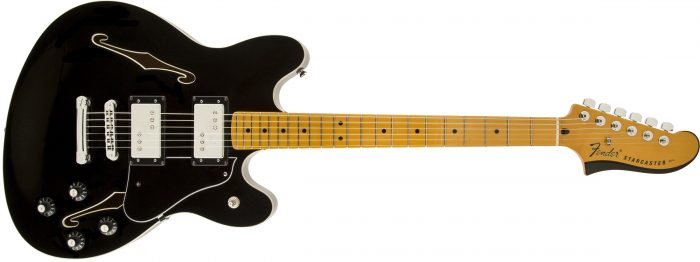 FENDER STARCASTER 700x262 - Fender Starcaster Guitar Electric Guitar - Black