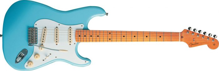 Fender Classic Series 50s Strat Daphne Blue 700x227 - Fender 50s Classic Stratocaster – Maple Neck W/bag (Daphne Blue)