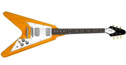Tokai Flying fv 40 500x257 - Tokai FV-40 Traditional Series Flying V Style Guitar - Vintage Natural