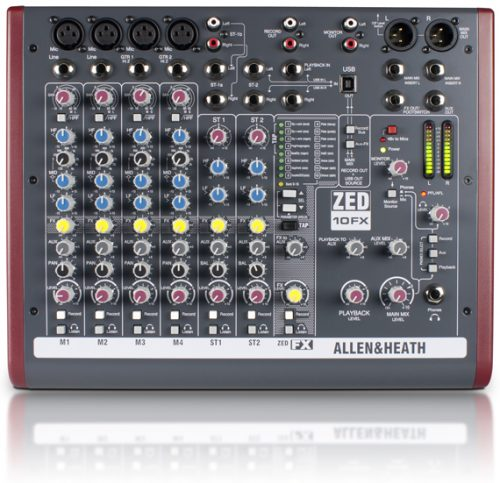 ZED10 FX Main1 500x483 - Allen & Heath ZED-10FX