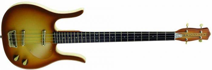 copper longhorn 950B 700x231 - Danelectro '58 Longhorn Short Scale Bass Guitar