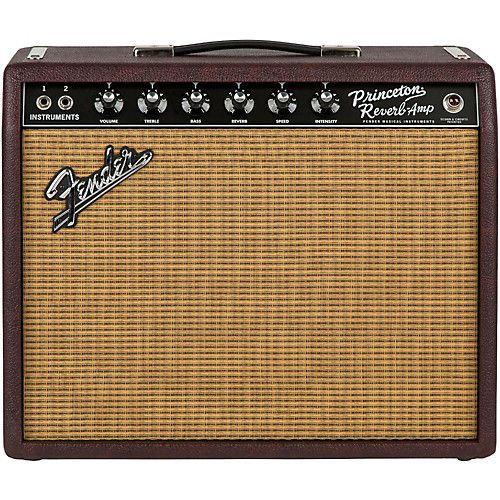 e0722c42a67a54011191c155b96f2825 guitar amp awesome gifts - Fender Limited Edition '65 Princeton Reverb 15W 1x12 Tube Guitar Combo Amp Bordeaux Reserve