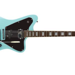 elevation crow black frnt jv puresalem 4 300x300 - PureSalem Cardinal Electric Guitar Daphne Blue Finish