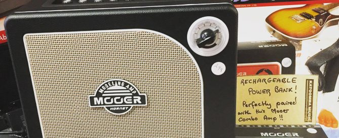 hornet mooer 669x272 - The perfect pair! Mooer Hornet Modelling Amp and Rechargeable Mooer Power Bank!