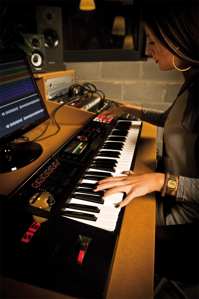 fa 06 studio woman gal - Roland FA-06 Music Workstation