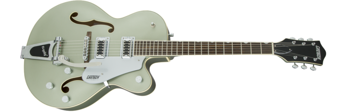 Gretsch G5420T Aspen Green gtr frtangleleft 001 rr 700x228 - Gretsch G5420T Electromatic Single Cutaway Hollow Body Electric Guitar with Bigsby - Aspen Green