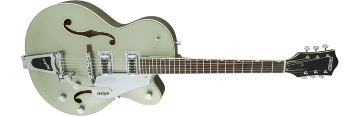 Gretsch G5420T Aspen Green gtr frtangleright 001 rr 700x228 - Gretsch G5420T Electromatic Single Cutaway Hollow Body Electric Guitar with Bigsby - Aspen Green