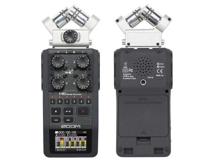 ZOO H6 0 700x558 - Zoom H6 Handy Recorder