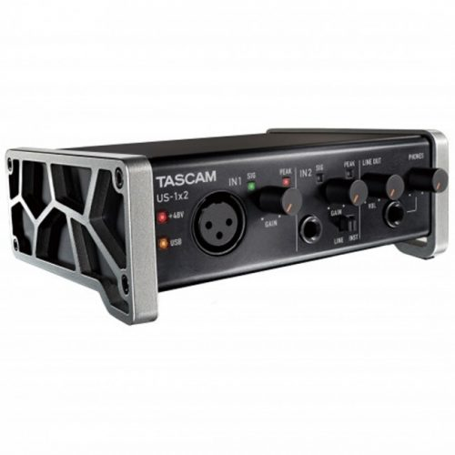 tascam us 1x2 audio interface 500x500 - Tascam US-1X2 USB Audio Interface 1-In/2-Out