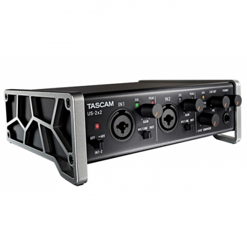 tascam us 2x2 usb audio interface angle 500x500 - Tascam US-2x2 USB Audio Interface iPad Mac and PC
