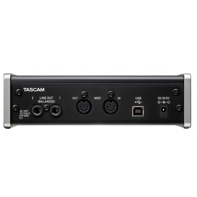 tascam us 2x2 usb interface back - Tascam US-2x2 USB Audio Interface iPad Mac and PC