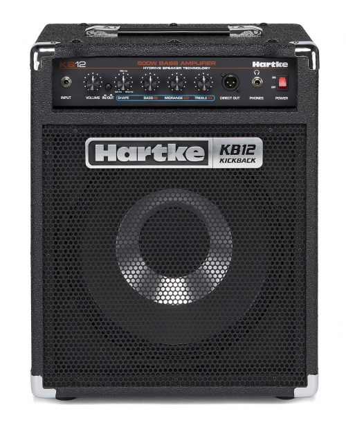 Hartke KB12 HO Updated 500x614 - Hartke KB12 500 Watt 1×12″ Hybrid Bass Combo