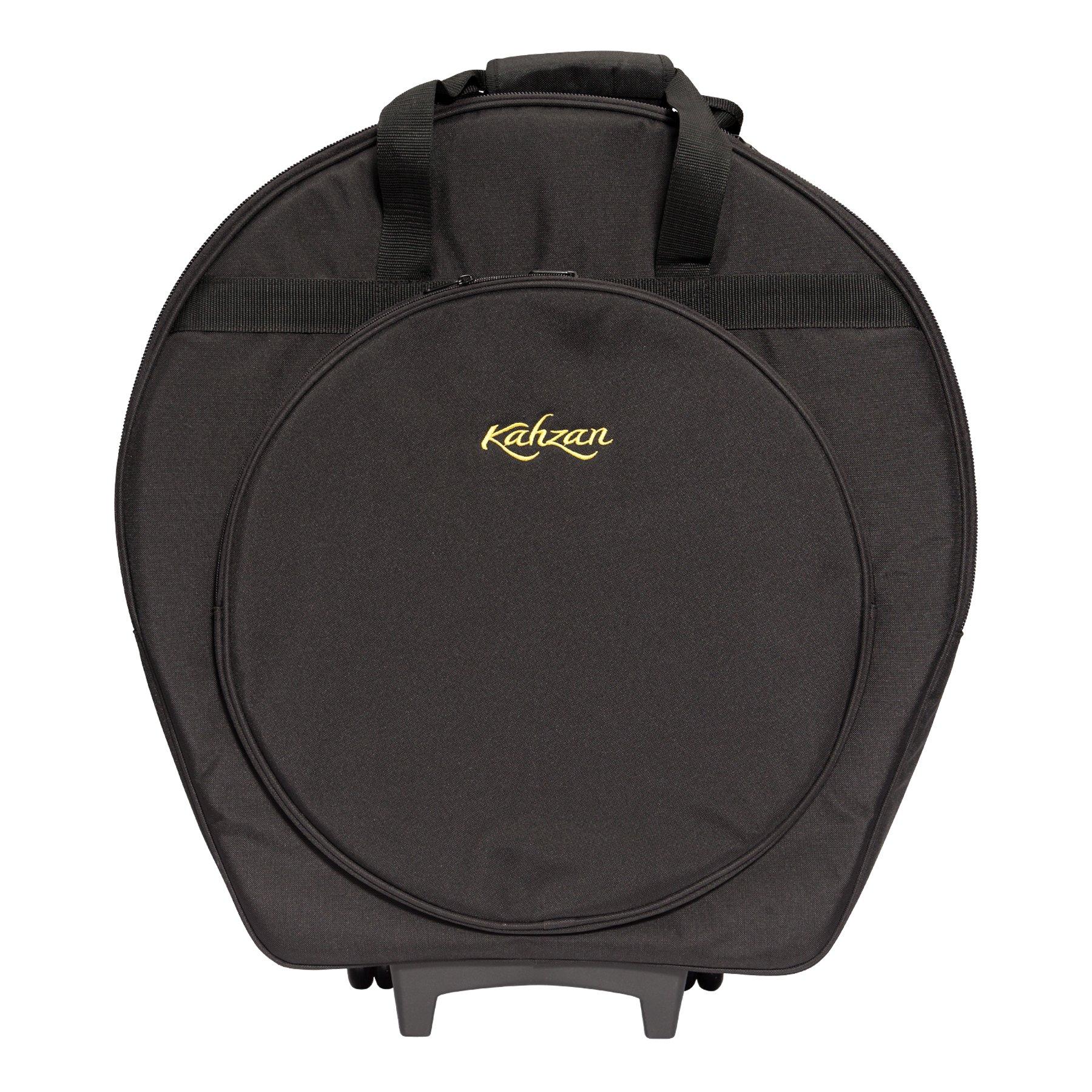 KZ CBAG5 BLK 1 - Kahzan Deluxe Cymbal Trolley Bag (Black)