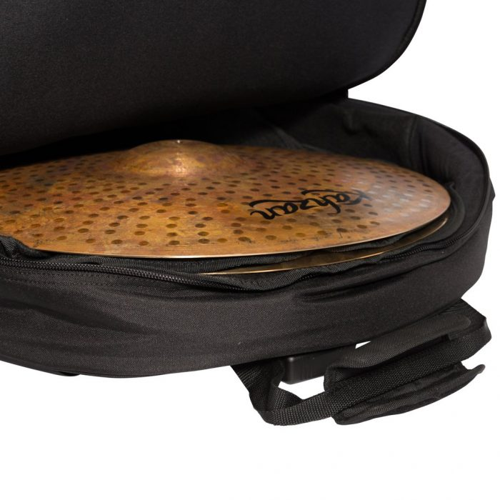 KZ CBAG5 BLK 3 1024x1024 700x700 - Kahzan Deluxe Cymbal Trolley Bag (Black)