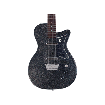 Danelectro 56BAR BKMF 1 - Danelectro 56 Baritone (Bottle Headstock) Black Metal Flake