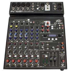 PEPV10BT 300x300 - Peavey PV10BT PV Series 10 Input Mixer w/Digital FX and Bluetooth