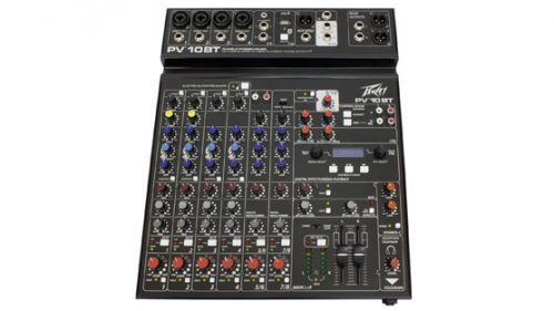 PEPV10BT 500x281 - Peavey PV10BT PV Series 10 Input Mixer w/Digital FX and Bluetooth