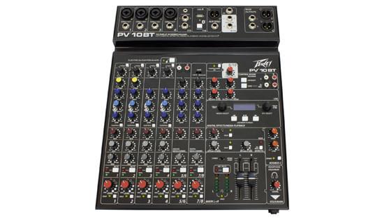 PEPV10BT - Peavey PV10BT PV Series 10 Input Mixer w/Digital FX and Bluetooth