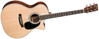 gpc35e over - Martin GPC-35E 14 fret cutaway grand performance acoustic electric guitar