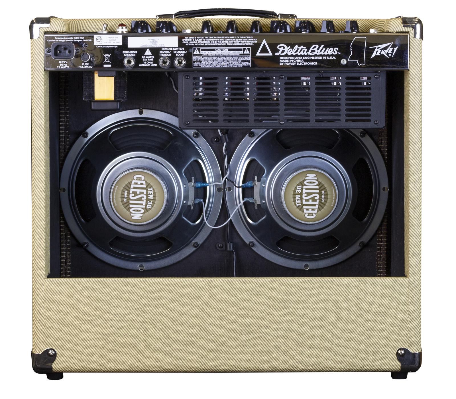 "PVDELTABLUES210 3 - Peavey Classic Series ""Delta Blues 210"" Guitar Amp Combo 30-Watt 2x10"""