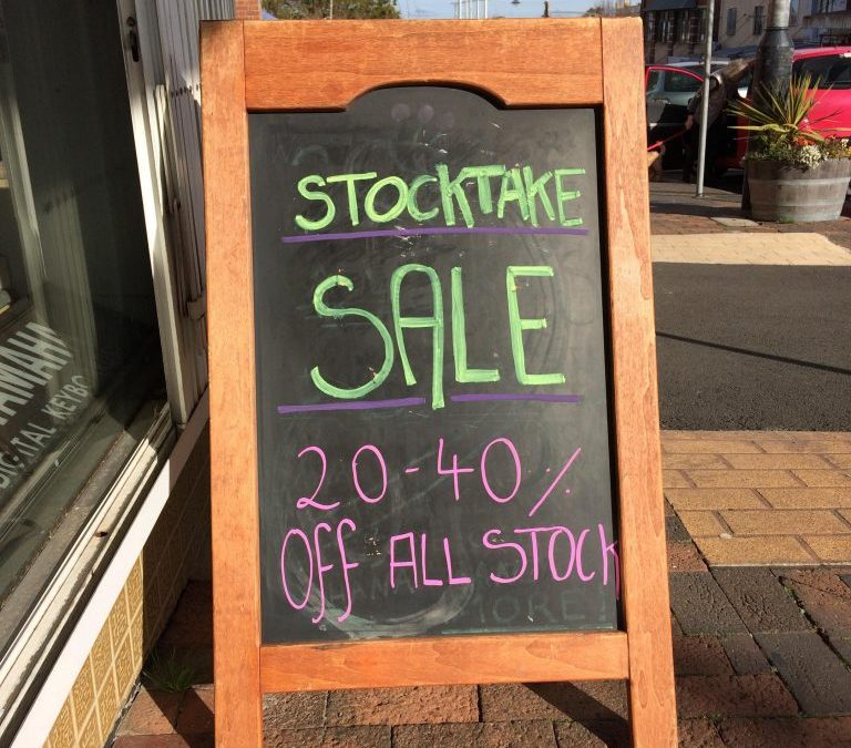 20-40% OFF Stocktake SALE!