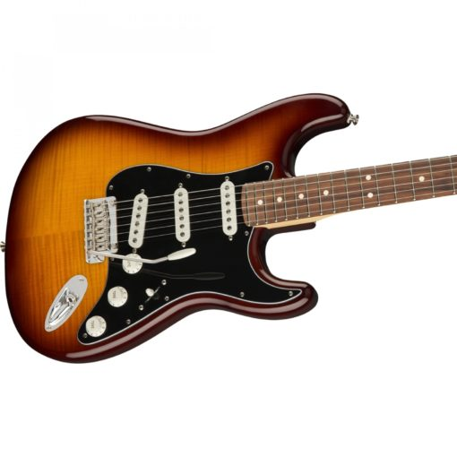 fender player tsb close up side ways  510x510 - Fender Player Stratocaster Plus Top PF Tobacco Sunburst