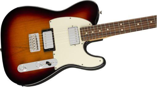 fender tele 3 colour up close  510x283 - Fender Player Telecaster HH Electric Guitar PF 3-Color Sunburst