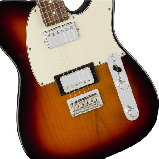 fender tele 3 colour upright  510x510 - Fender Player Telecaster HH Electric Guitar PF 3-Color Sunburst