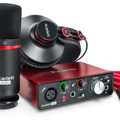 FocusriteStudio 400x400 - Focusrite Scarlett Solo Studio USB Audio Interface W/Pro Tools First (Gen 3) Headphones and Condensor Mic