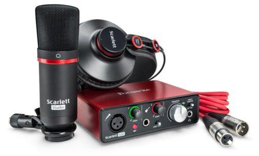 FocusriteStudio 510x307 - Focusrite Scarlett Solo Studio USB Audio Interface W/Pro Tools First (Gen 3) Headphones and Condensor Mic