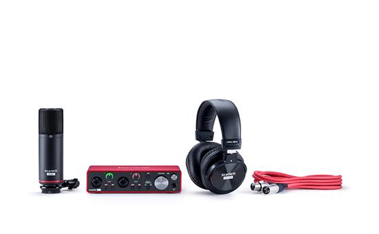 MOSC0031 2 - Focusrite Scarlett Solo Studio USB Audio Interface W/Pro Tools First (Gen 3) Headphones and Condensor Mic