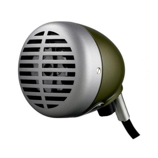 "SHR 520DX 2 510x510 - Shure 520DX ""Green Bullet"" Harmonica Microphone (520-DX)"