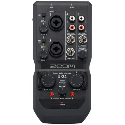 ZOO U24 400x400 - Zoom U-24 Handy Audio Interface W/Ableton Live 9 Lite