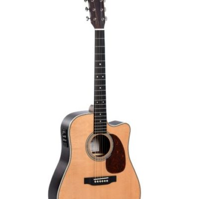 product shot of the front of the dtc28he acoustic guitar front on