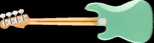 back of the fender vintera precision bass in seafoam green