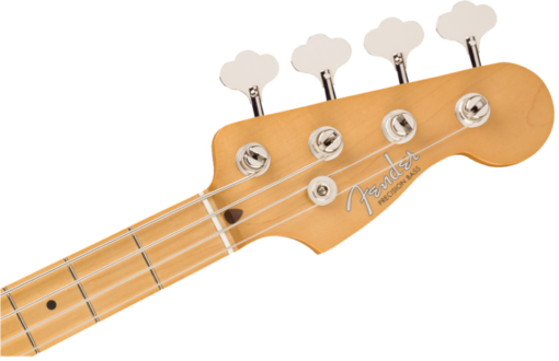 fender vintera precision bass headstock with make and model labeled